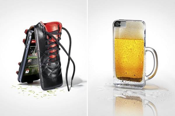 Switzerland-based agency Twin-Design created these fantastic iPhone case images as part of an ad for Swiss tabloid newspaper Blick's new smartphone app. The app covers news, sports, gossip, and more, and the ad campaign ingeniously communicates that message.