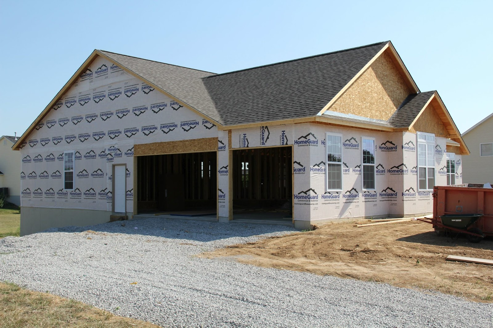 Our new home the exterior brick stone and siding for Houses with stone accents