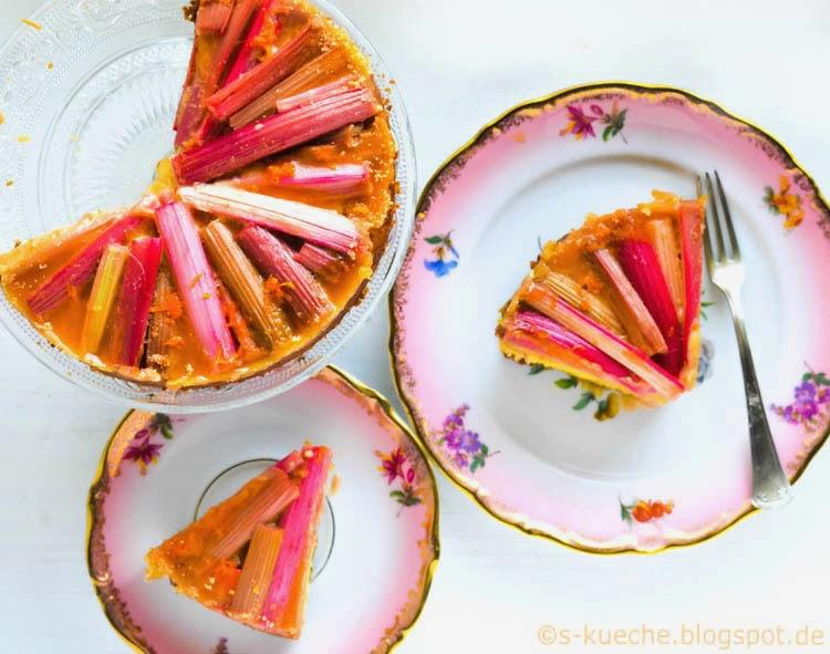 S-Küche: Rhabarber Grieß Kuchen mit Karamell und Orange