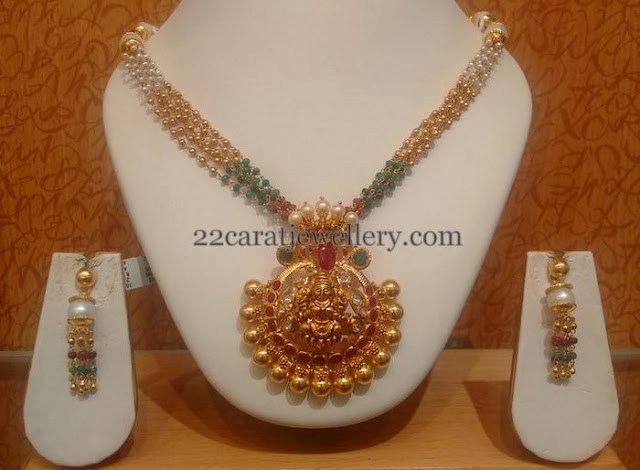 Gold Swirls and Beads Set with Hoops