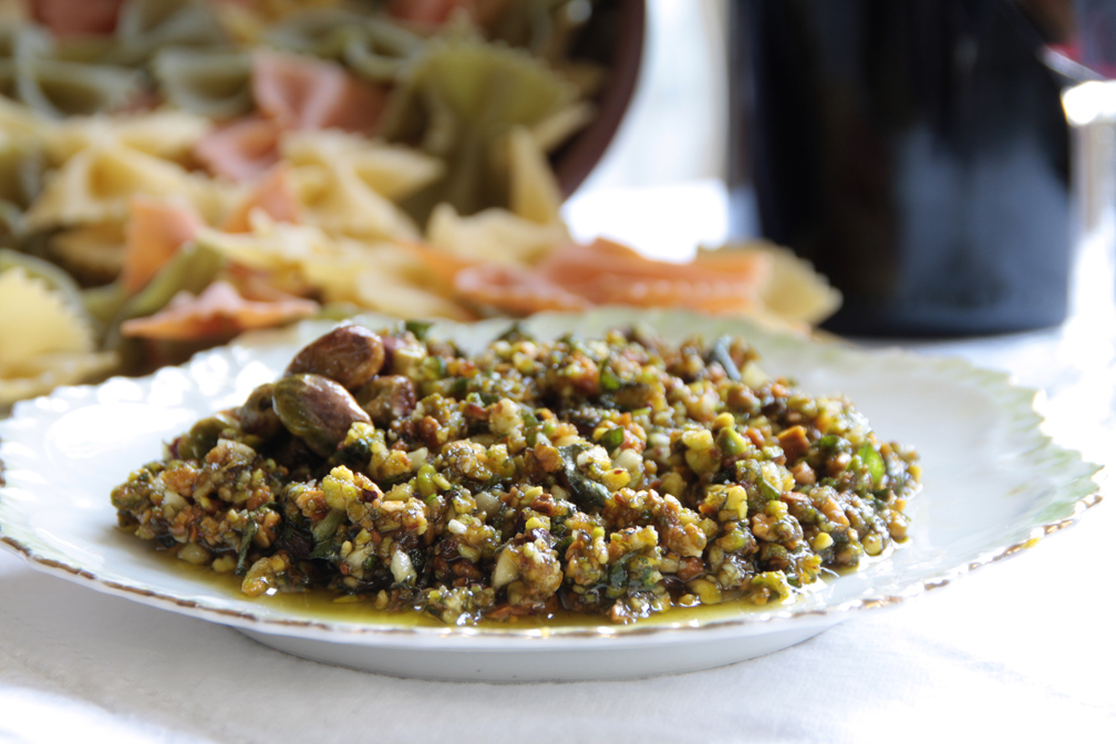 Easy Cooking with Alba : Sicilian Pistachio Mint Pesto