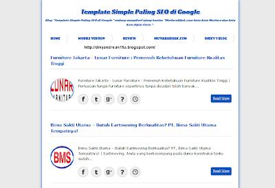 SEO template blog bikin gregeet