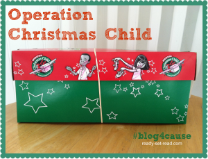 operation christmas child, blog4cause, ready set read, kids giving, photo, charitable giving, charities