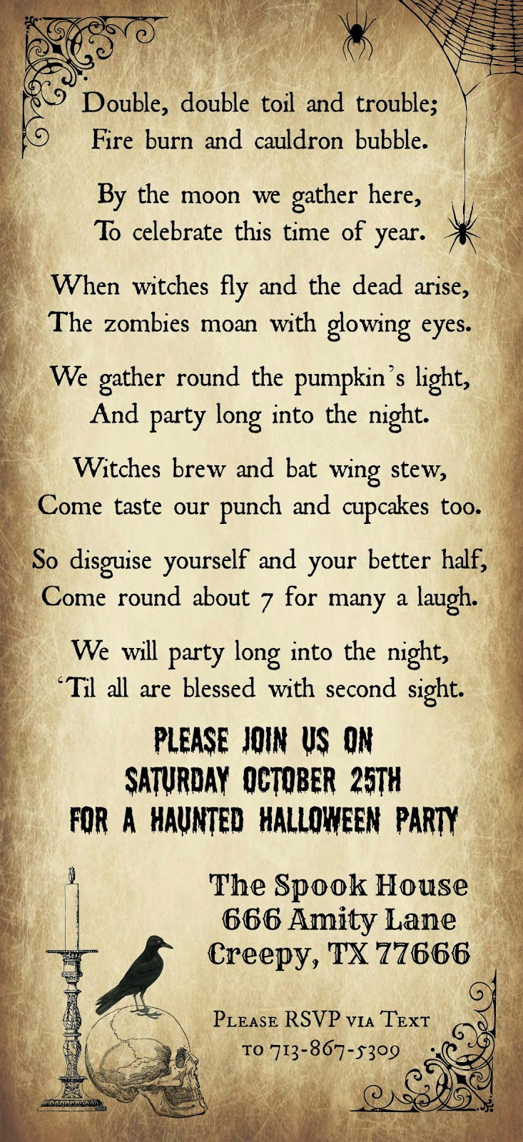 Crafty in Crosby: Halloween Party Invitation 2014