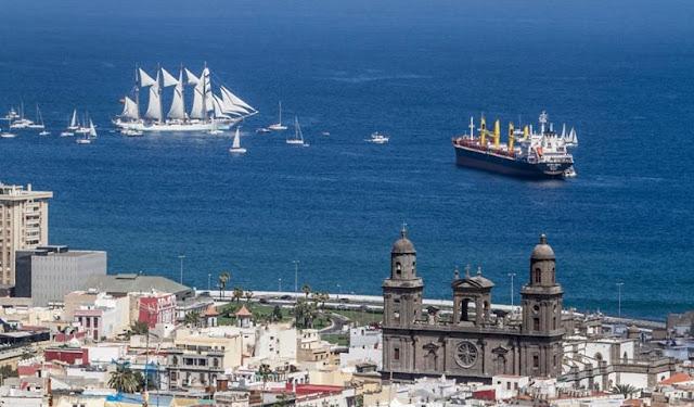 Vista del muelle deportivo de Las Palmas de Gran Canaria