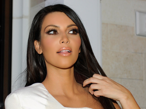kim kardashian light brown hair 2012