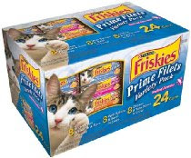 Friskies Prime Filets Seafood Selections Variety Pack, Seafood, 5.5-Ounce Cans (Pack of 24)