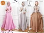 Baju Muslim Gamis Alvina HYD309 HABIS