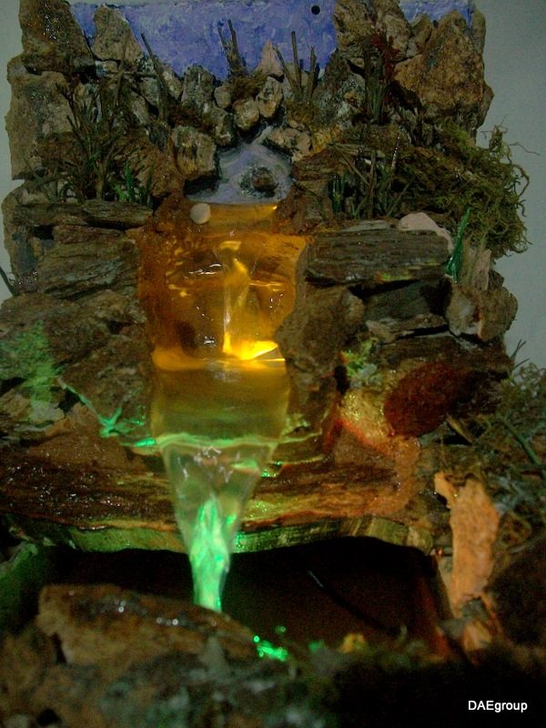 Daegroup cascadas de piedra con luces led for Cascadas con piedras