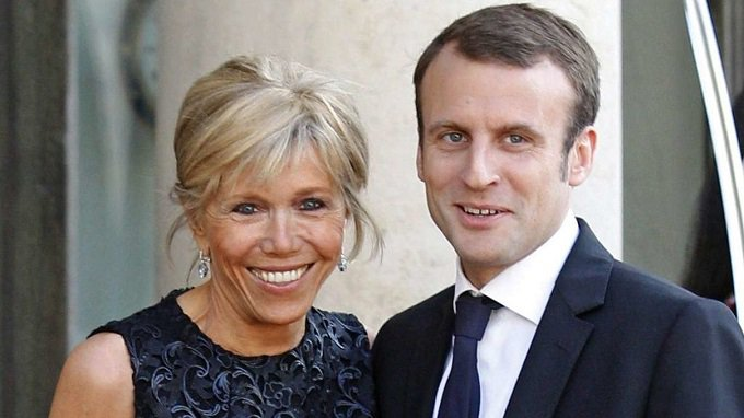 PRESIDENT AND FIRST LADY OF FRANCE, THE MACRON