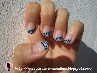 Mis cositas de maquillaje decoraci n u as francesa azul - Decoracion francesa ...