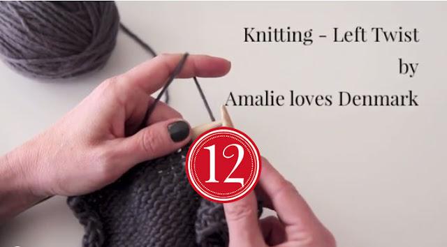 Amalie loves Denmark Stricken lernen Linke Maschen