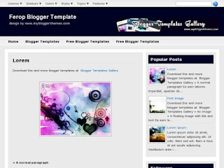 Ferop Blogger Template