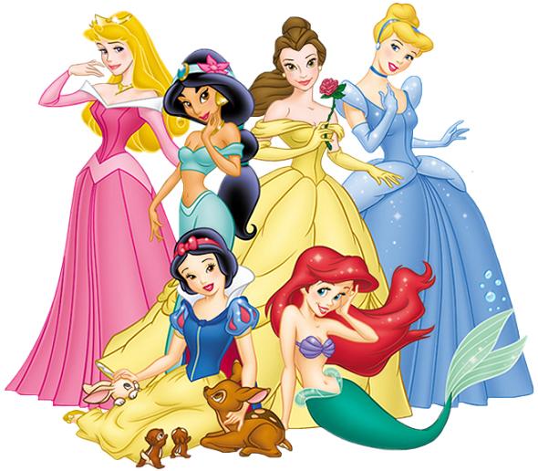 Princesas Disney desenho colorido