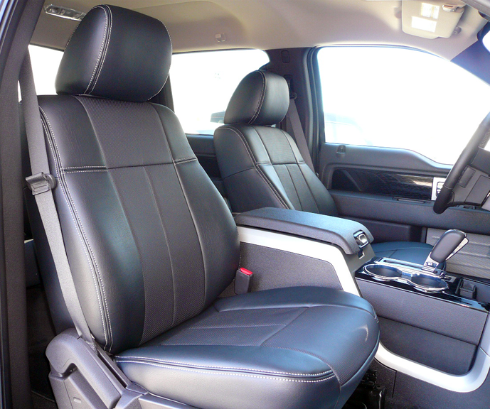 leather black ford truck seat covers image