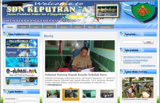 Web Versi CMS Balitbang