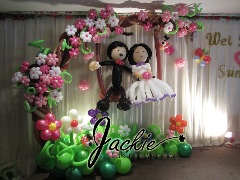Balloon decorations for weddings birthday parties for Balloon decoration ideas for weddings