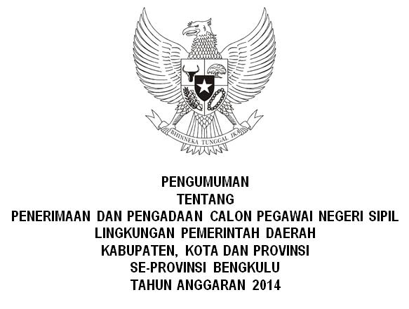 List Penerimaan CPNS SeProvinsi Bengkulu