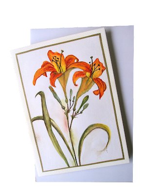orange,lilies,flowers,floralcard,greeting,handmade,cardmaker,design,botanical
