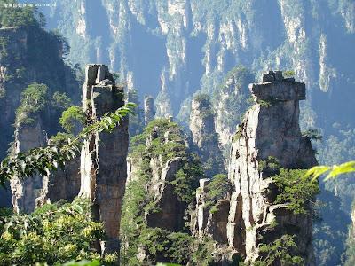 Tianzi mountain peaks