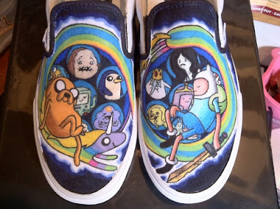 Adventure Time Painting Shoes