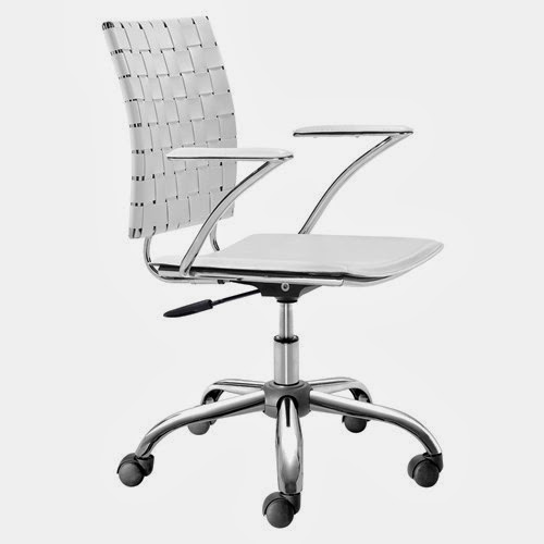 White rolling office chair