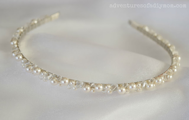 How to Make a Pearl and Crystal Headband