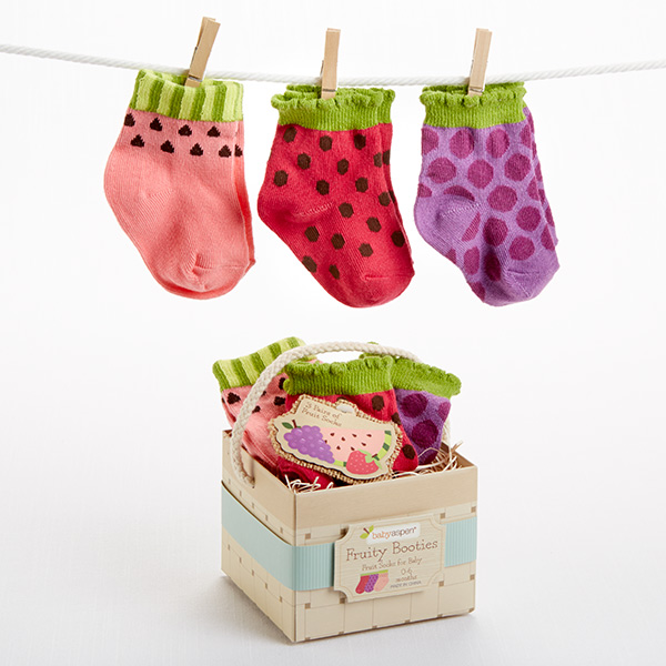 """Fruity Booties"" 3 Pair of Socks for Baby"