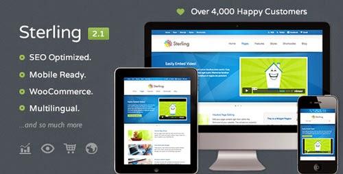 Sterling Responsive Wordpress Theme Version 2.1.1 free