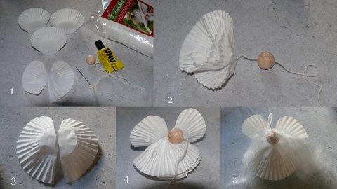 Gk kreativ engel aus muffinf rmchen - Engel basteln aus naturmaterialien ...