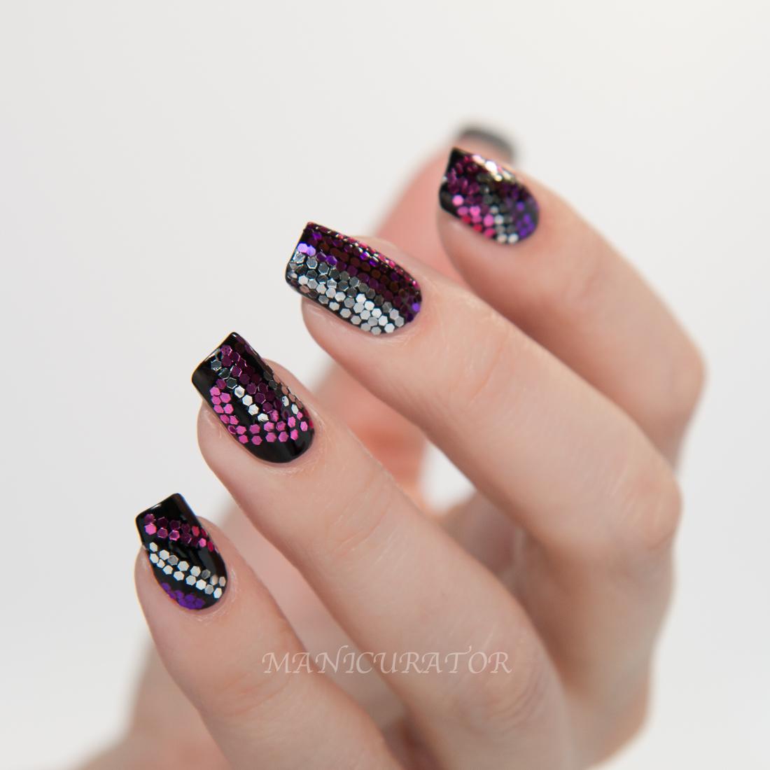 NAFW-Rodarte-Studio-54-glitter-nailart