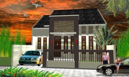 model rumah minimalis 2 lantai on Model Rumah Minimalis