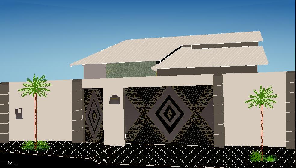 fachada de casa residencial