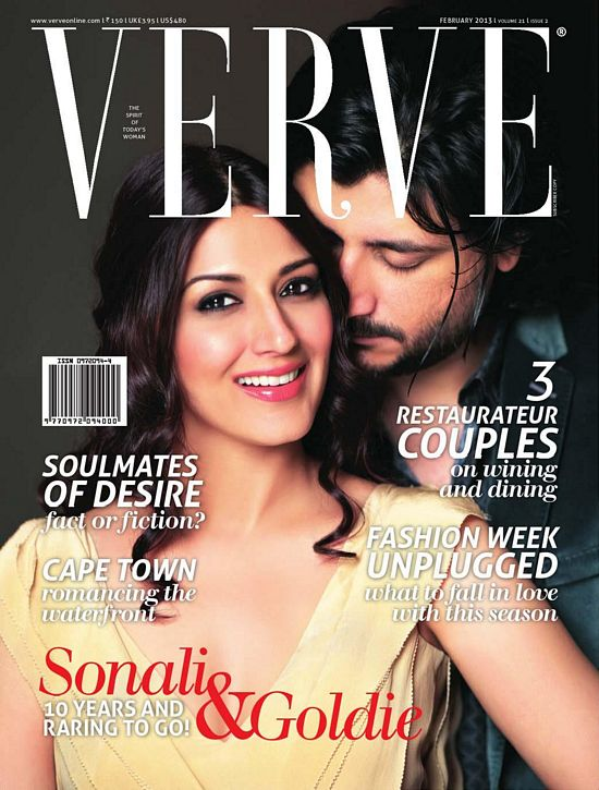 Sonali Bindre On Verve Magazine February 2013 Cover Page