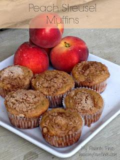Peach Streusel Muffins | www.momstestkitchen.com