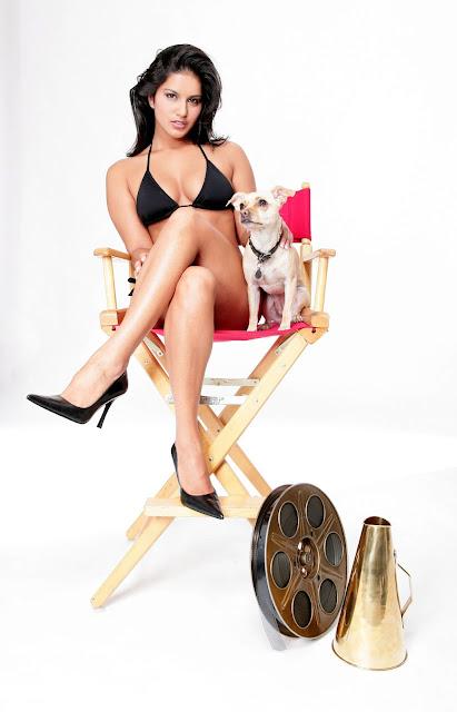 Sunny Leone Super Sexy Black Two Piece Bikini Photoshoot