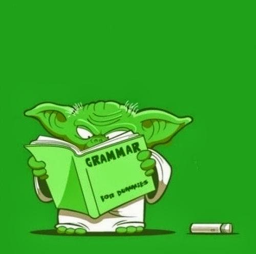 Yoda aprende gramática por fin