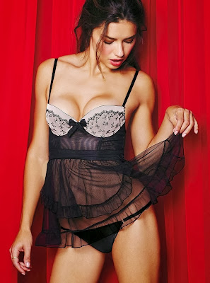 Adriana Lima Victoria Secret Valentine's Day Lingerie Photoshoot 2014 HQ Pictures