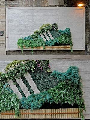 streetmarketing adidas biologique écologique affichage