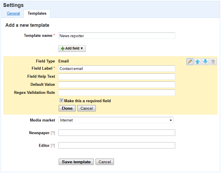 Timetonote New Feature Templates