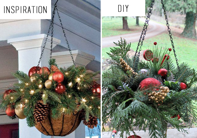 punk projects: DIY Hanging Christmas Baskets