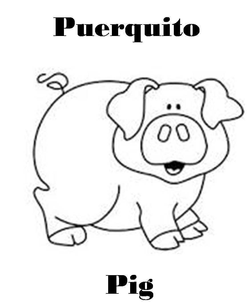 Imagenes para dibujar en Ingles y español: Animales de Granja para ...