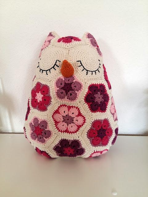 coussin hibou granny crochet