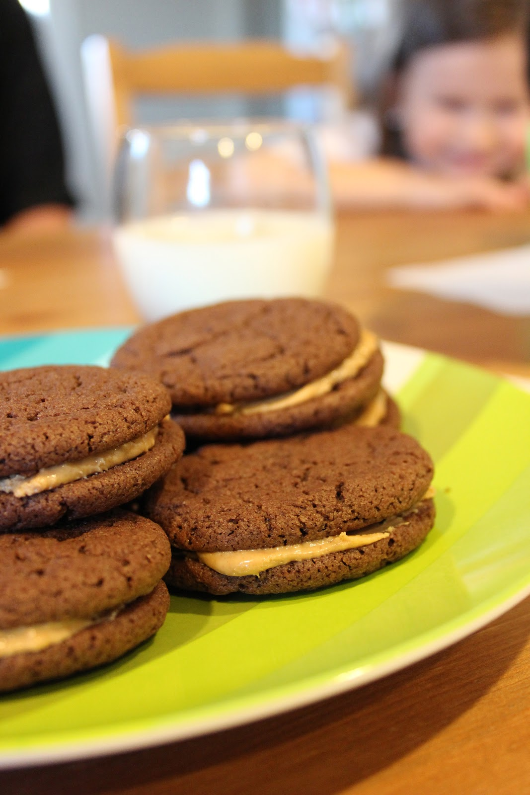Kinzie's Kreations: Chocolate Peanut Butter Sandwich Cookies