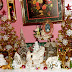 A Pink,White & Gold Christmas in the Dining Room (2nd Half) ,Part 7 ,Our Christmas Home Tour 2014