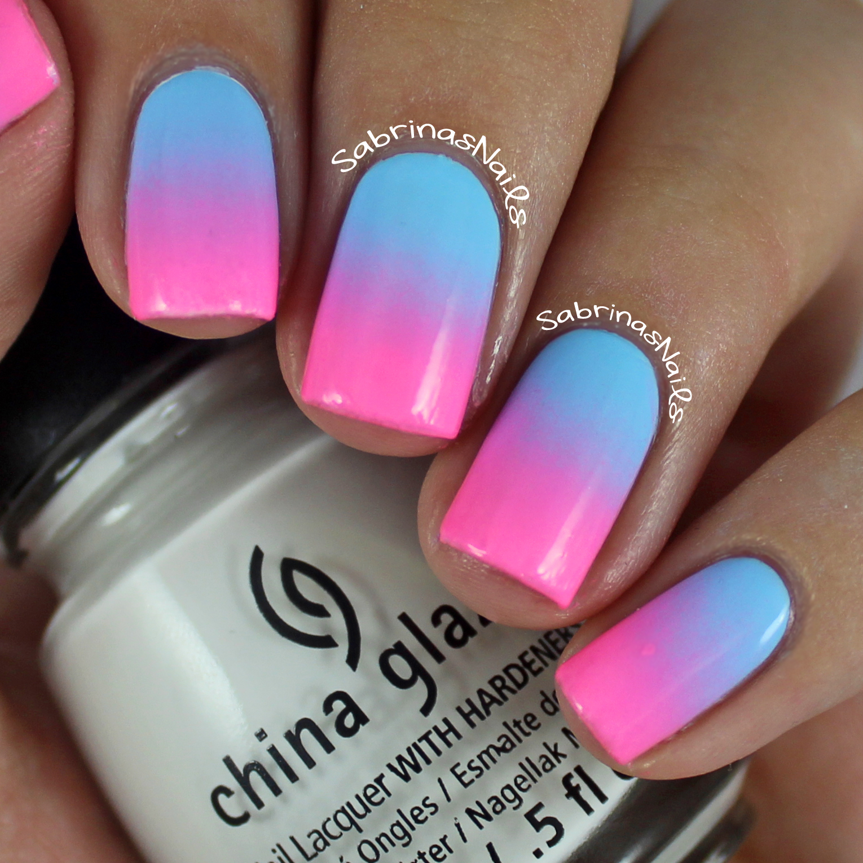 Ombre Nail Art: Sabrinas Nails: Cotton Candy Ombre Nails