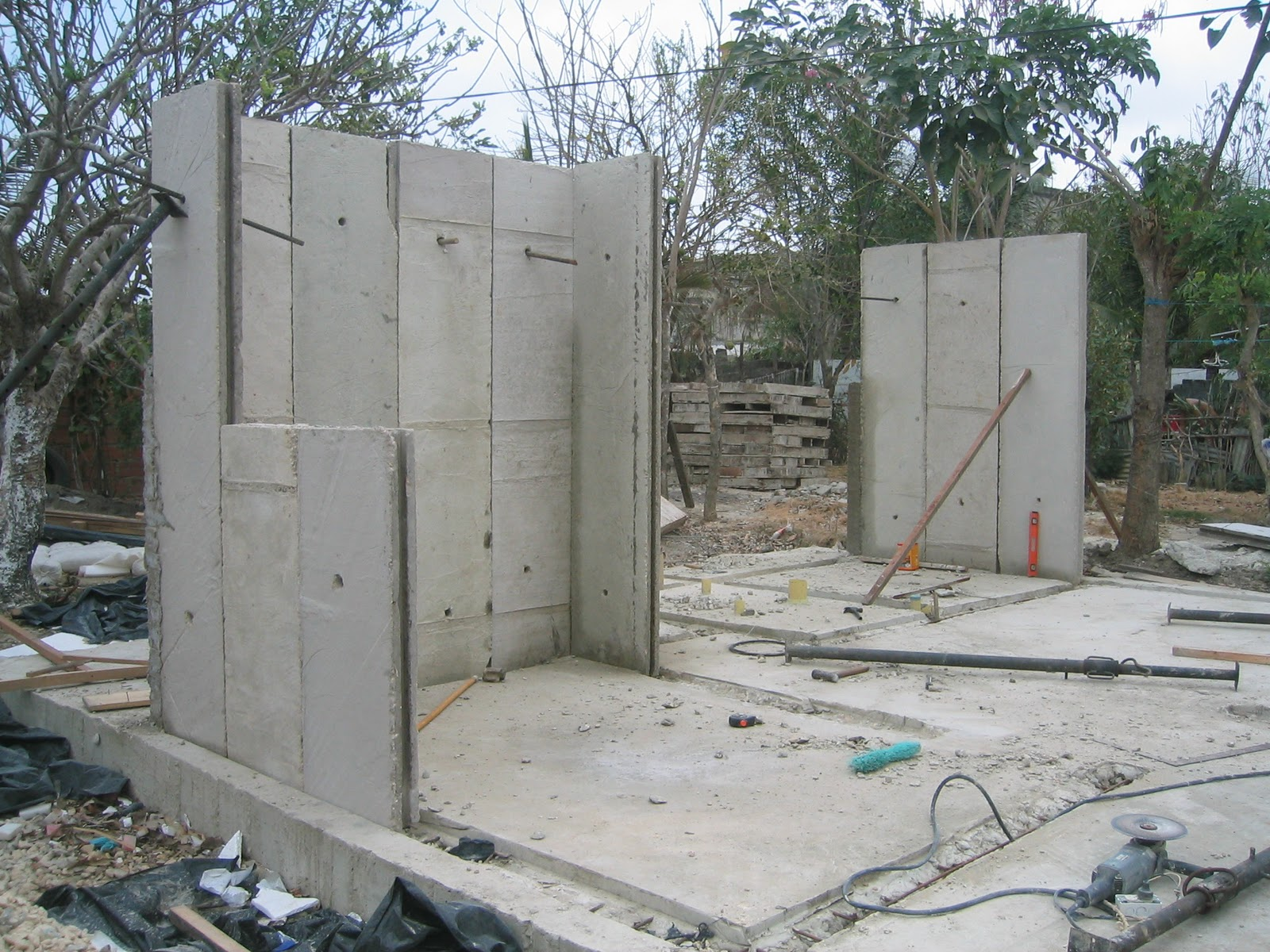 Tecnolog as proceso constructivo for Muro de concreto armado