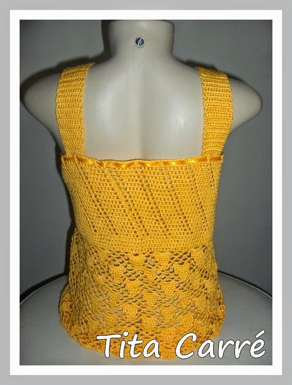 Na minha Loja - Blusa regata em Crochet  Sun