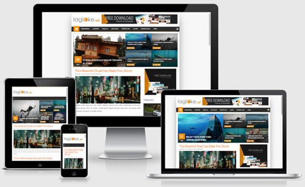 Inversia responsive blogger template