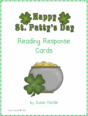 http://www.teacherspayteachers.com/Product/St-Patricks-Day-Reading-Response-Cards-215560